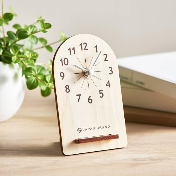 エコでおしゃれな木製置き時計のノベルティ│MOKU