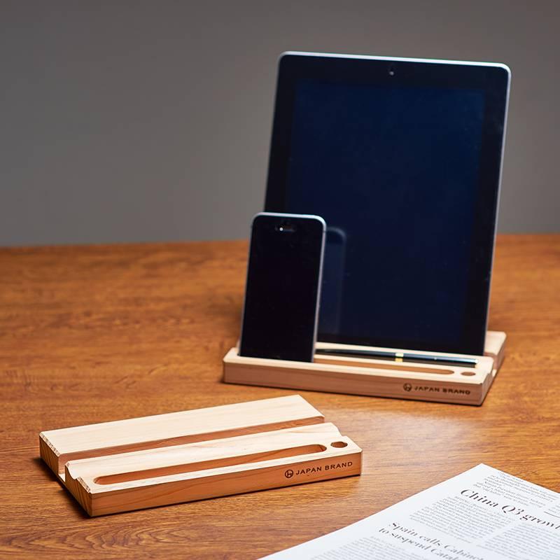 おしゃれな木製デスク小物スタンド