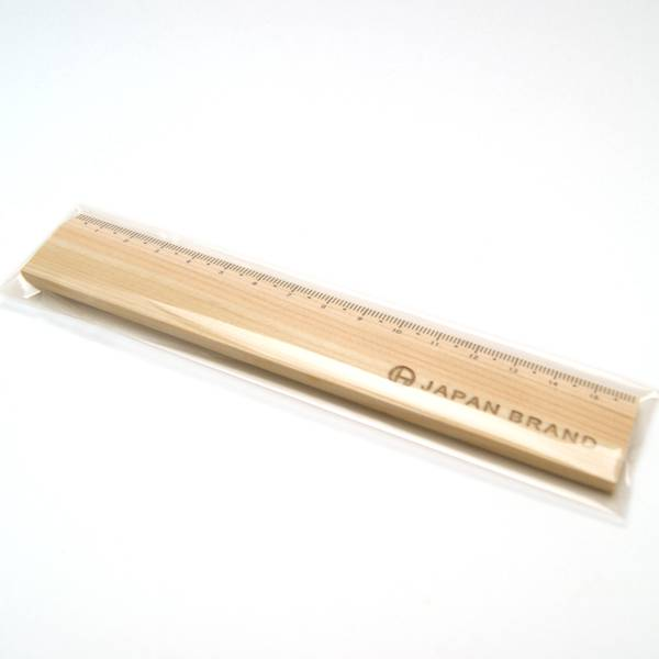 16cmとちょうどいい長さの木製スケール