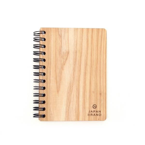 木製B7リングノートノベルティ 焼印名入れ