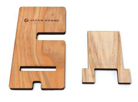 組み立て式の木製の時計&スマホスタンド