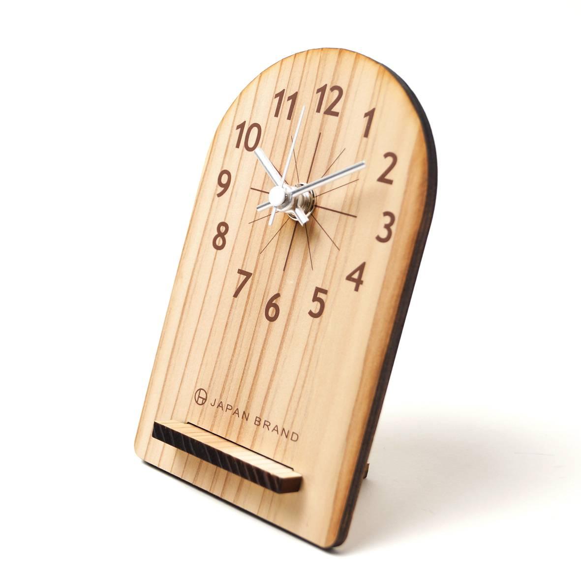 エコでおしゃれな木製置き時計