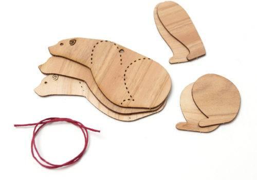 木製クラフトキットパーツ