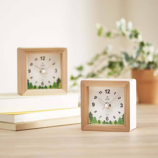 木製置き時計ノベルティ