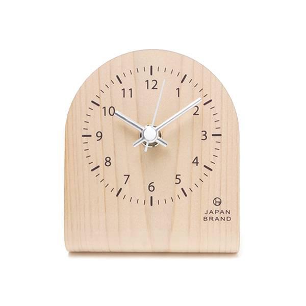 名入れできる木製卓上時計