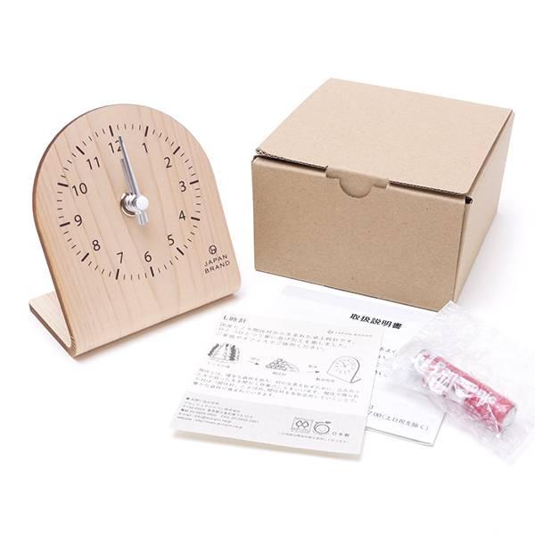 箱と付属品、卓上時計本体