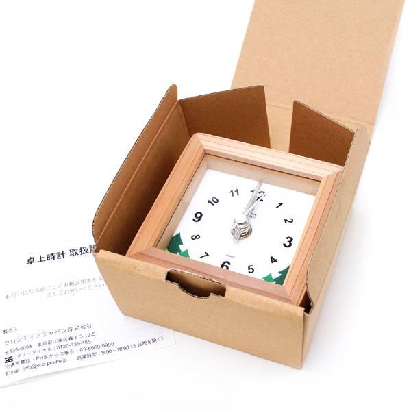 木製置き時計ノベルティ3