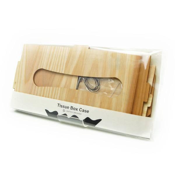 組み立て前の木製ティッシュボックスケース