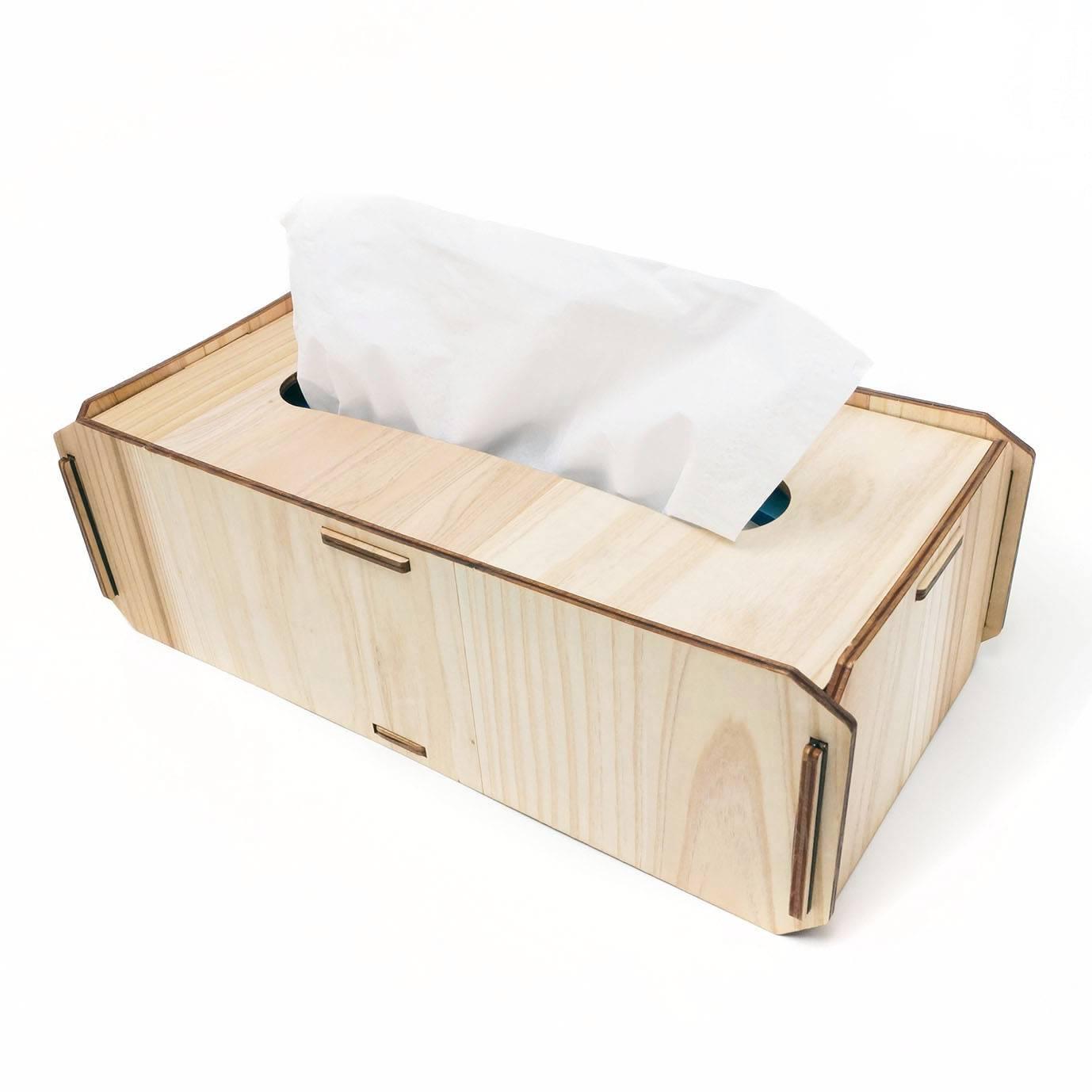 名入れできる木製ティッシュボックスケース