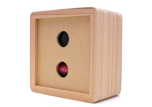木製置き時計(裏面)