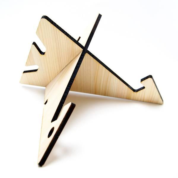 組立て式の木製タブレットスタンド