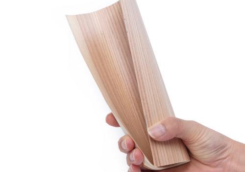木の表紙なのに柔らか!おしゃれなノートのノベルティ