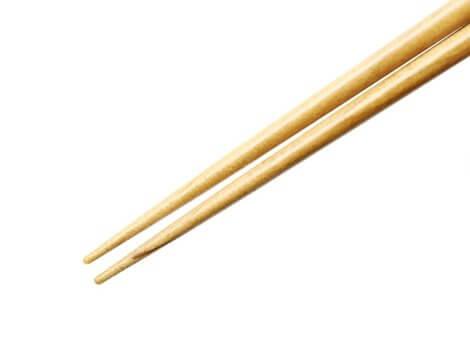 箸の先端には滑り止め加工