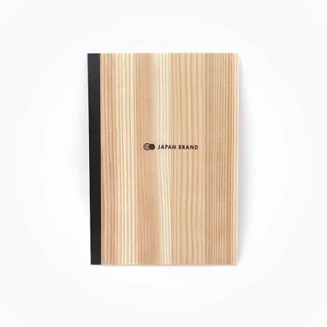 国産杉間伐材でつくられた水平ノート