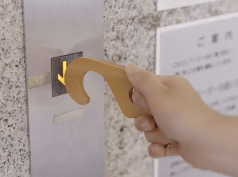 エレベーターのボタン操作にも活用できる